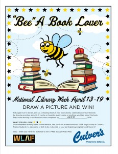 """BEE a Book Lover"" Contest with Culver's"